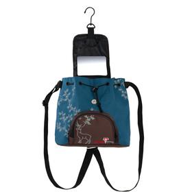 Grüezi-Bag Kultursackerl Pochette, blu/marrone